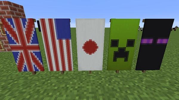 国旗やモンスターの旗