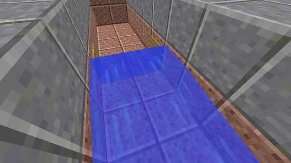 看板の横から流された水