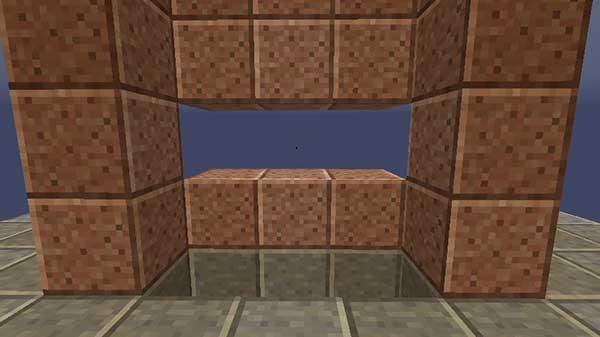 くり抜かれたブロック