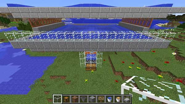 枠のガラスブロック