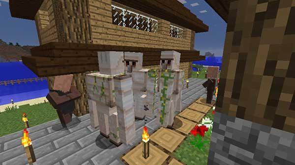 村にスポーンしたアイアンゴーレムトラップ