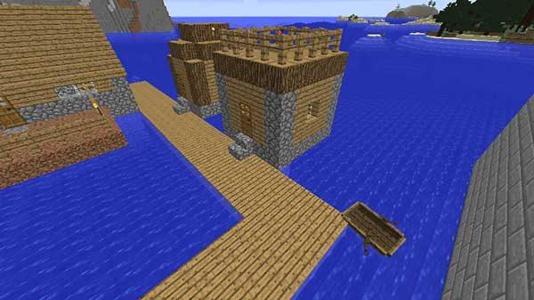 水上コテージ風の小屋