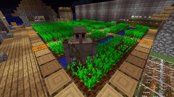畑にスポーンしたアイアンゴーレム