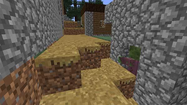 閉じ込められる村人ゾンビ