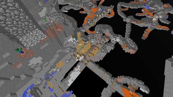 村の真下の廃鉱