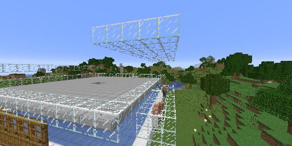村人の屋根を移動する