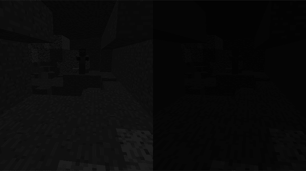 洞窟の中での見え方の違い