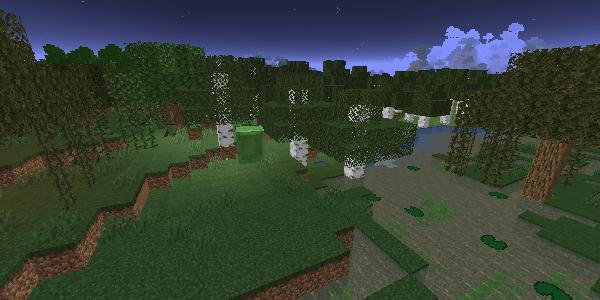 湿地帯に湧くスライム