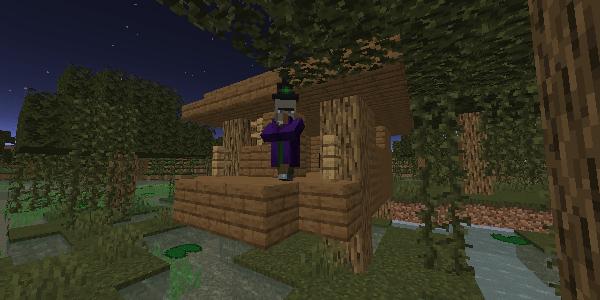 湿地帯のウィッチの小屋
