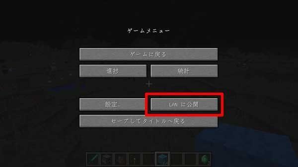 LANに公開するためのボタン1