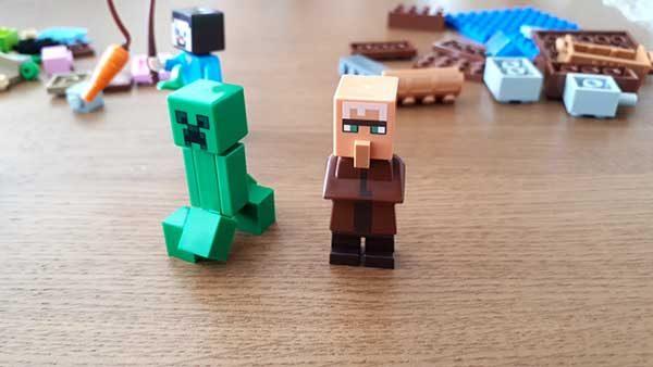 クリーパーと村人