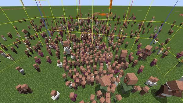 大量の村人