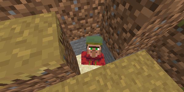 砂に埋まった村人