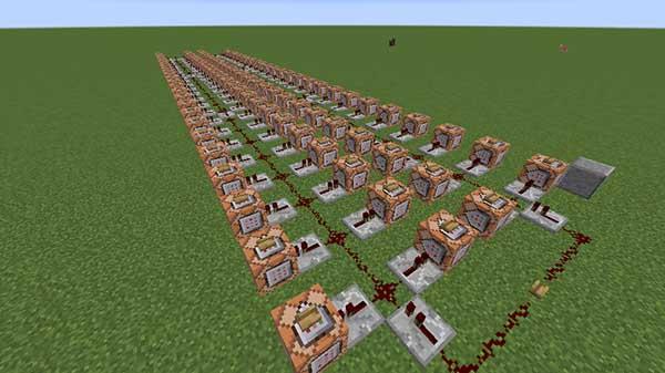 村人100人を召喚する装置