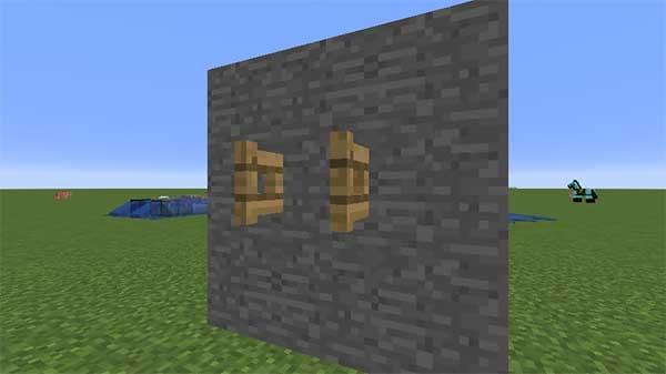 壁に設置されたフェンスゲート