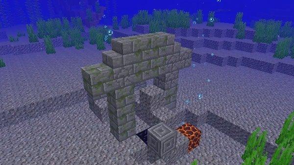 マグマブロックと海底遺跡