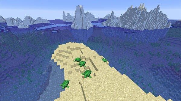 氷山とカメ