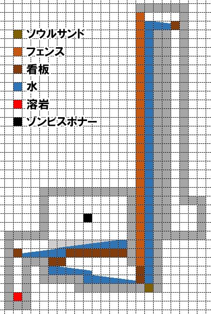 バブルエレベーター式ゾンビトラップの設計図