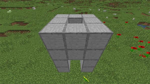 さらに積み上げられたブロック
