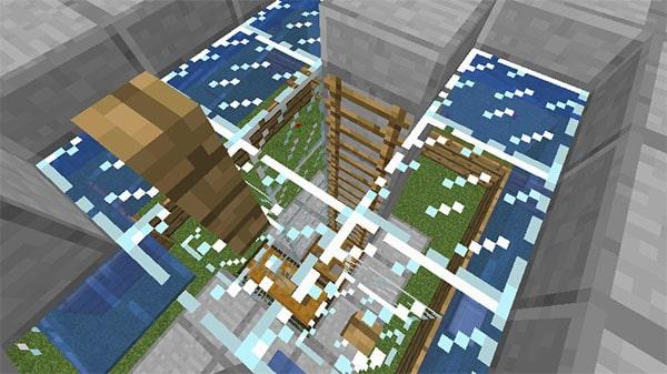 天井への階段