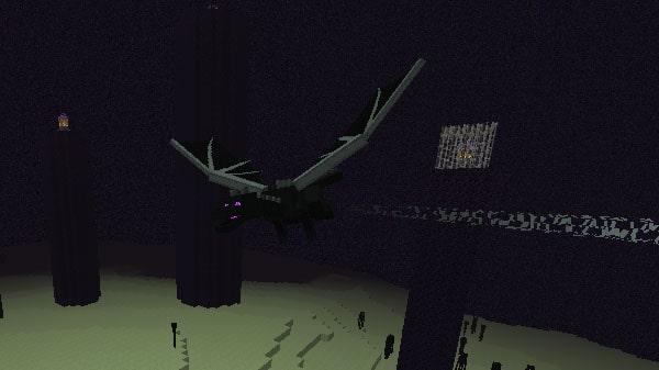本島で飛び回るエンダードラゴン