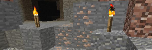 洞窟で発見した鉄鉱石
