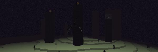 黒曜石の柱が立つジ・エンド