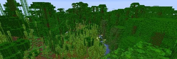 ジャングルと竹林