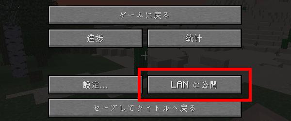 LANに公開ボタン