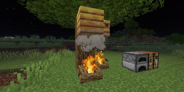 煙であぶられるハチの巣