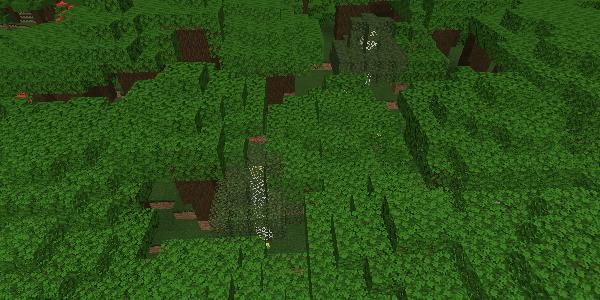 覆われた森