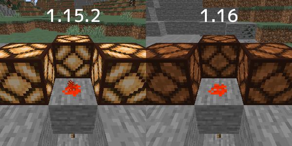 1.15.2と1.16の動力の伝わり方の違い