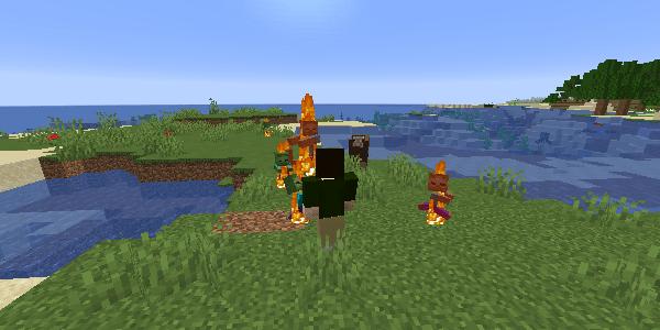 燃えるゾンビ